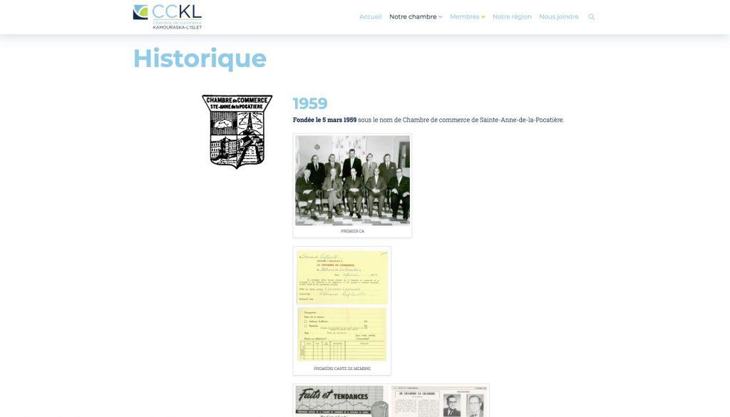 Page Historique
