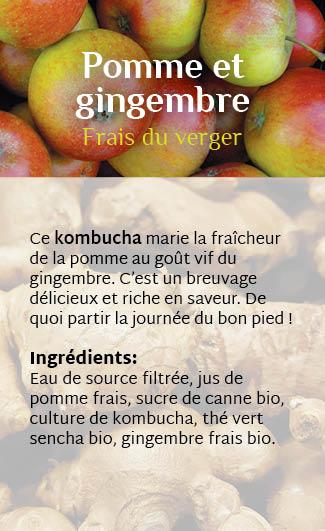 Étiquette Pomme et gingembre recto
