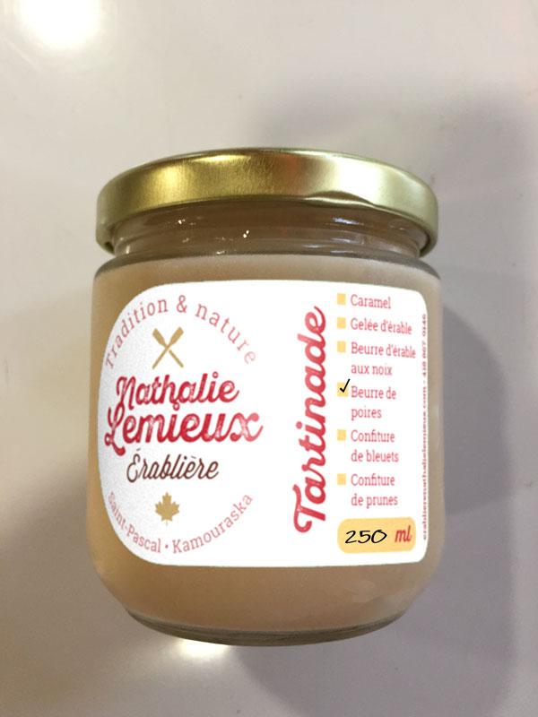 Simulation d'étiquette sur contenant de 250 ml