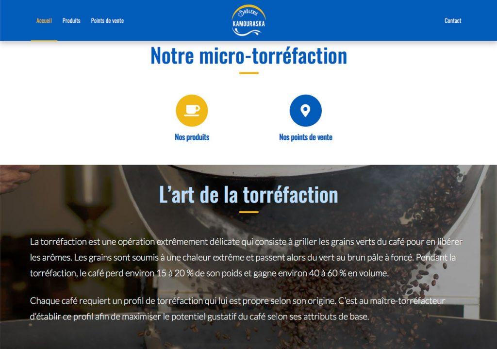 Page d'accueil - Site web Brûlerie du Kamouraska