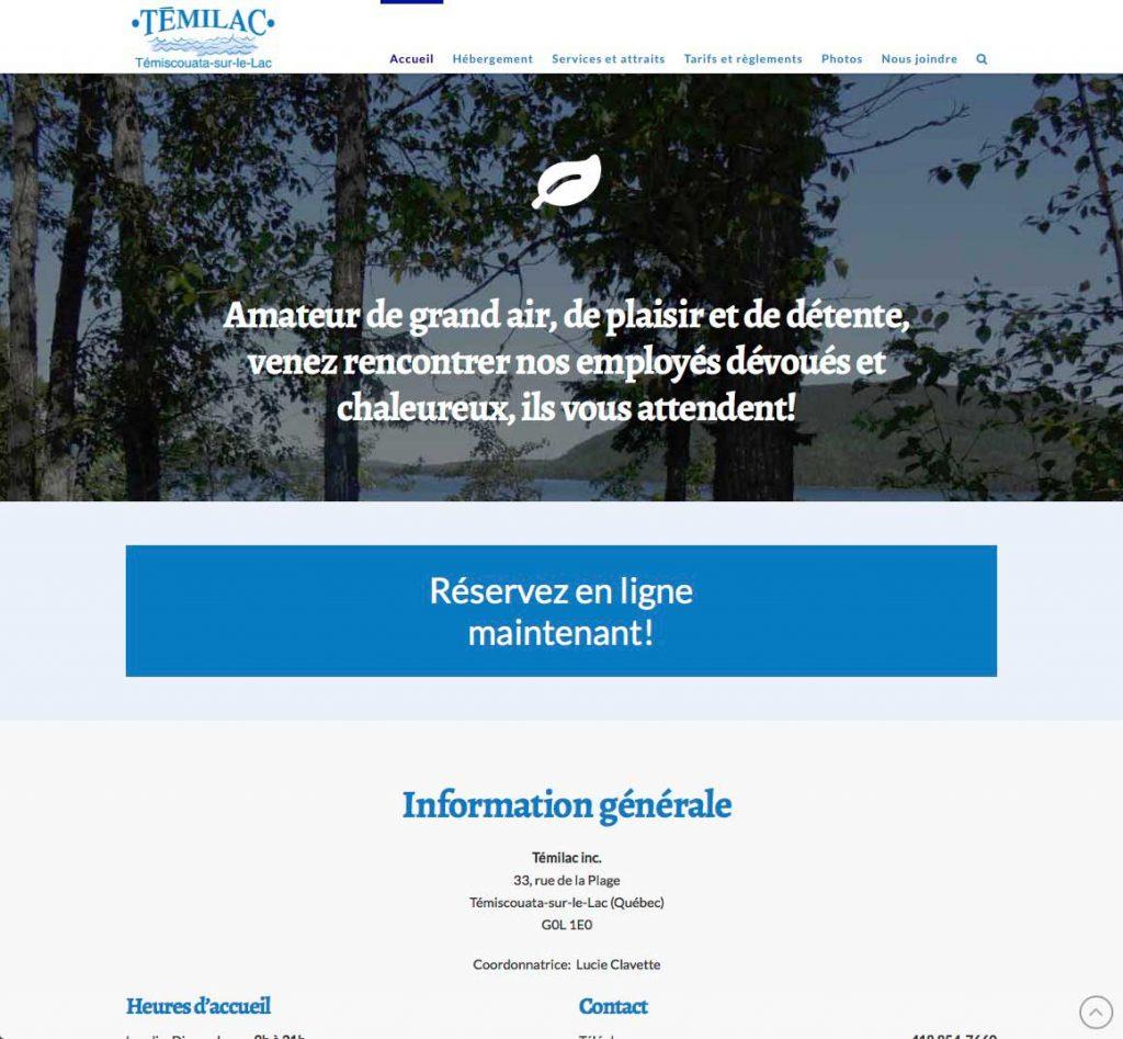 Page d'accueil (suite)